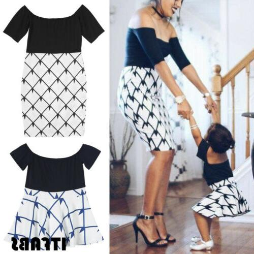 Mother and Daughter Clothes Parent-child Family Matching Outfit Mini