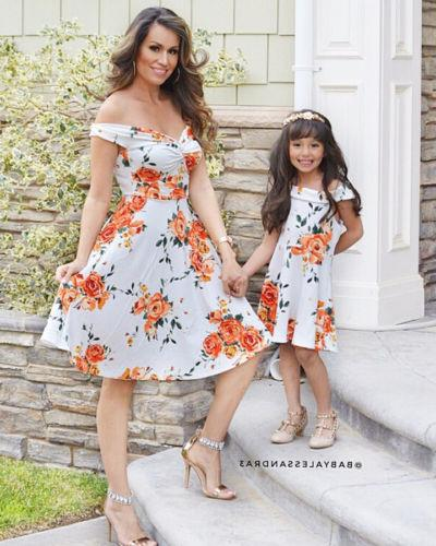 Fashion Daughter Matching Dress Clothes Sets