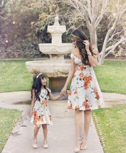Fashion Matching Dresses Girl Dress Sets
