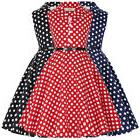 Flower Dress Evening Dots Birthday Retro Girls Kids Vintage