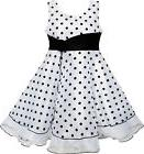 Flower Girl Dress Black White Dot Tulle Party Pageant Size 4