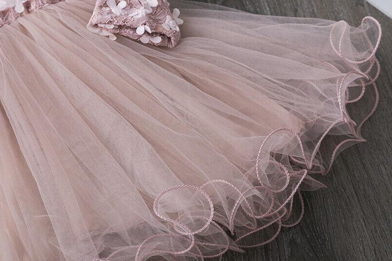 Flower Dress Baby Party Pink