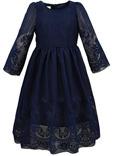girl s kids classy embroidery lace maxi