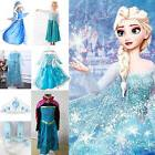 Girls Disney Elsa Frozen Dress Cosplay Costume Princess Anna