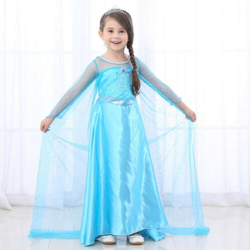 Kids Girls Elsa Princess Party Fancy Xmas