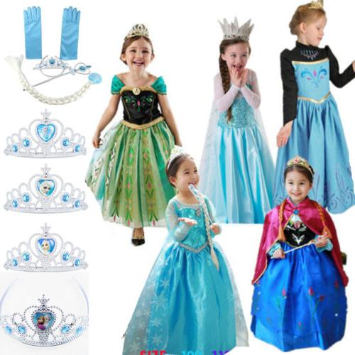 Girls Princess Anna Fancy Costume Cosplay