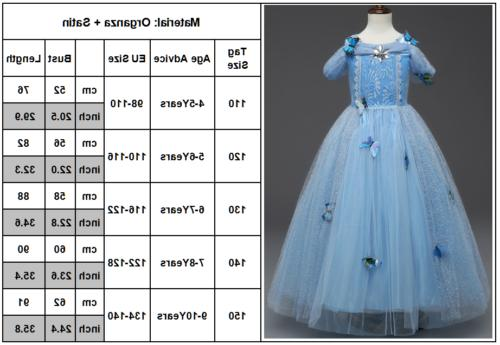 Girls Frozen Princess Anna Tulle Fancy Costume Cosplay
