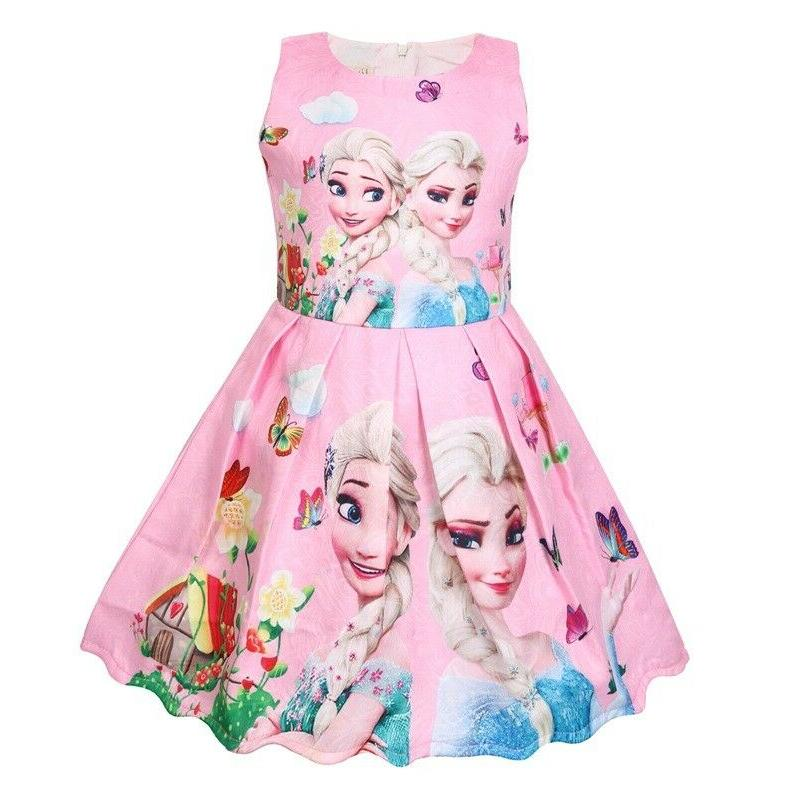 Girls Dress Kids Frozen Casual Dresses B16