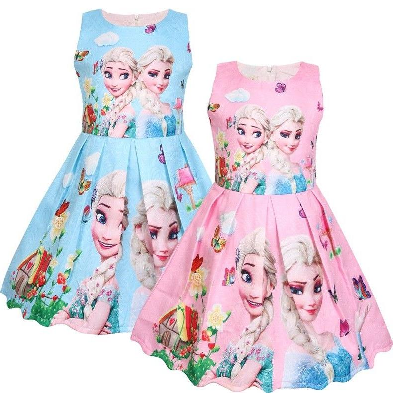 girls skater dress kids frozen anna elsa