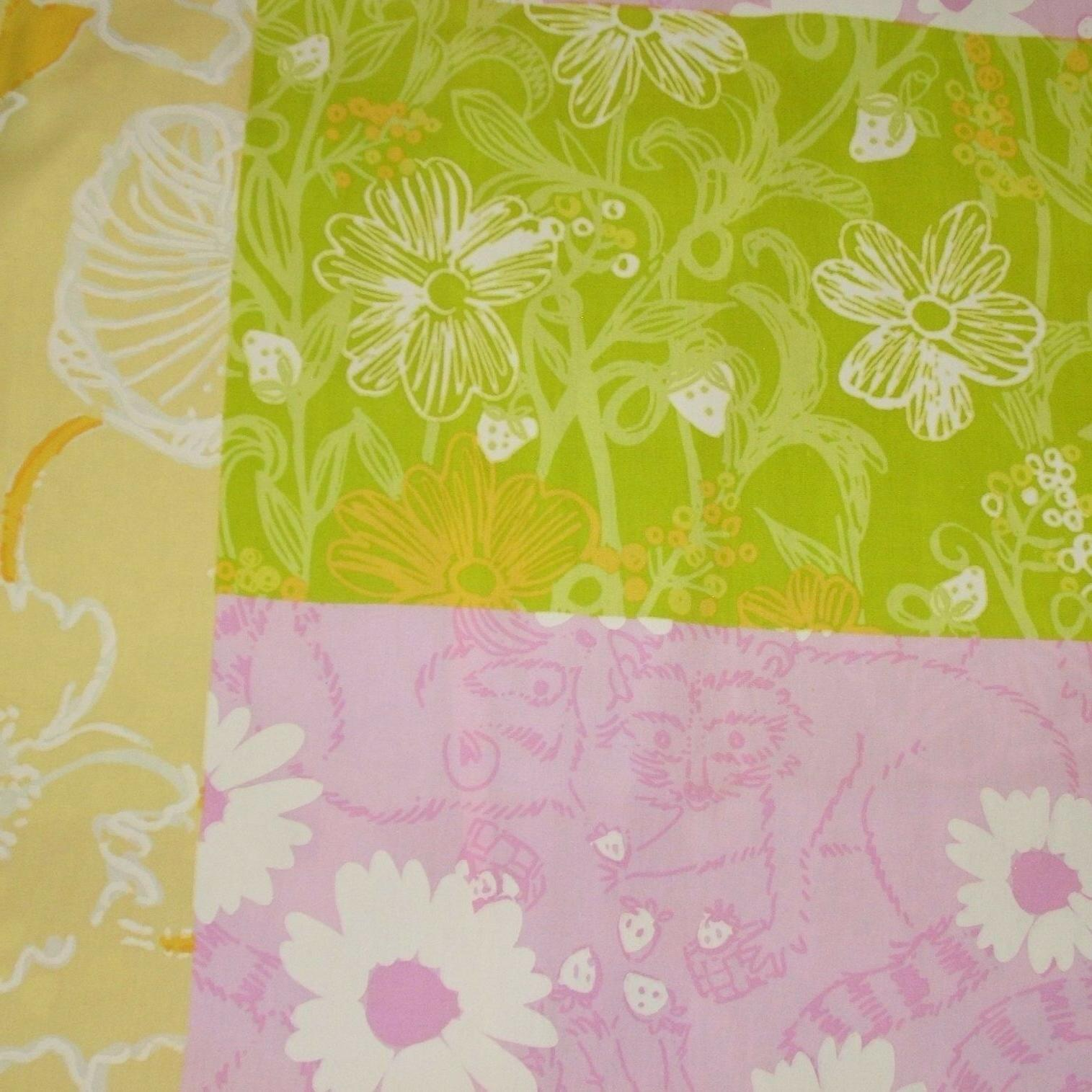 Lilly Pulitzer Floral Pillow Case Shift Dress Girls Size 10