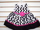 Infant Girls Forever Magic Black, White & Pink Dress Size 12