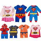 Infants Boys Girls Baby Super Hero Romper Outfit Suit Party