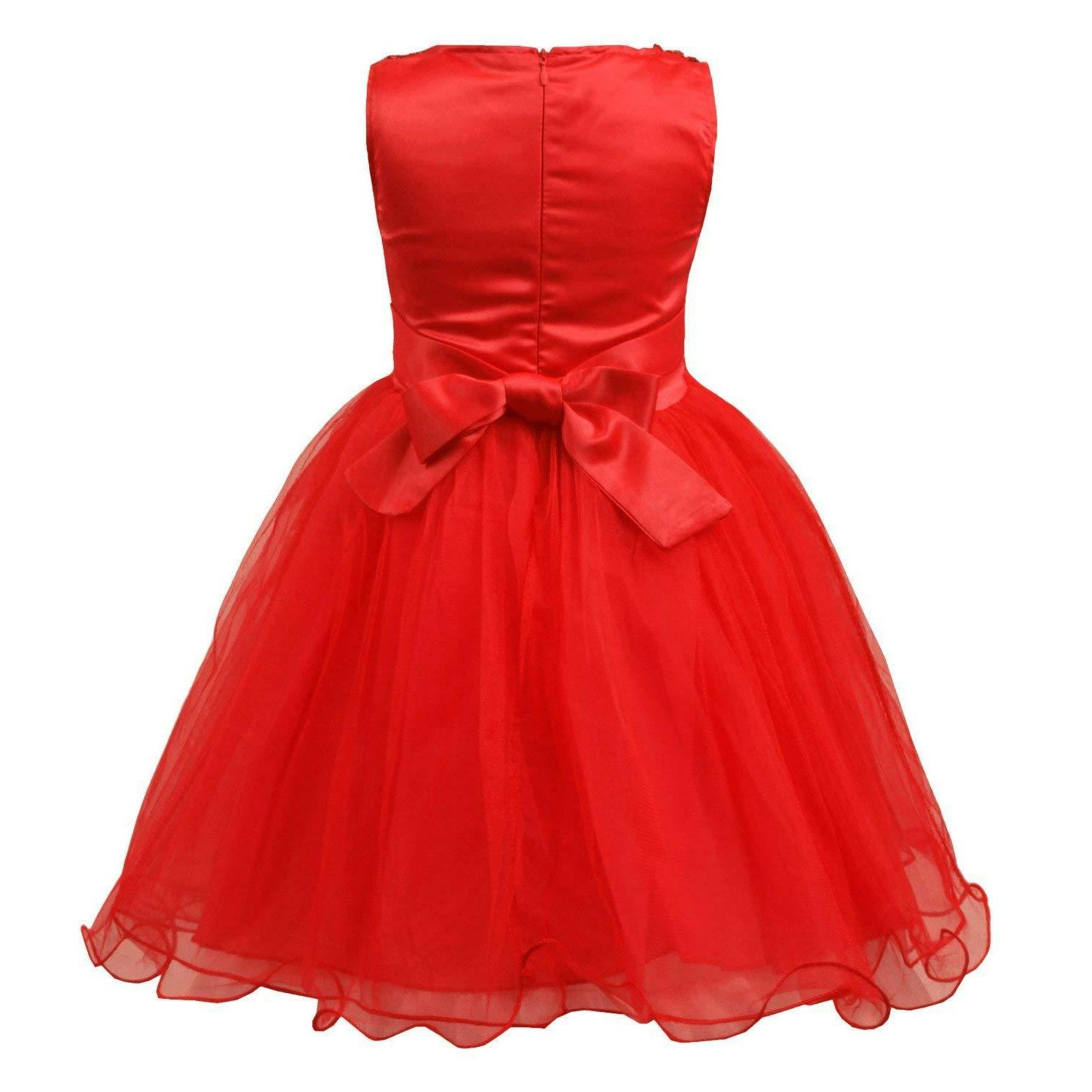 JerrisApparel Girls' Mesh Ball Gown Party Dress Tulle