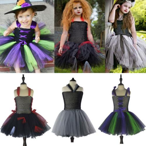 Vampirina Witch Girls Cosplay Dress Tutu Tulle Party Fancy H