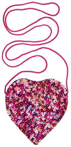 Back From Bali Little Girls Small Heart Shaped Bag with Stra