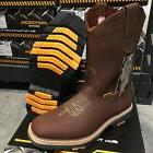 MEN'S WORK BOOTS SOFT TO GENUINE LEATHER BROWN WESTERN COWBO