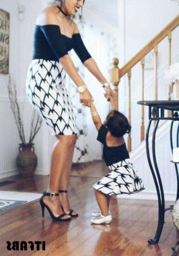 Mother Daughter Clothes Parent-child Family Matching Outfit Dress