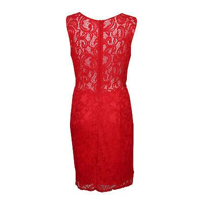 For Mock Two-Piece Lace Red Large