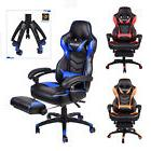 ELECWISH Office Gaming Chair Racing Recliner Bucket Seat Com