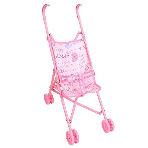 plastic first doll stroller pink