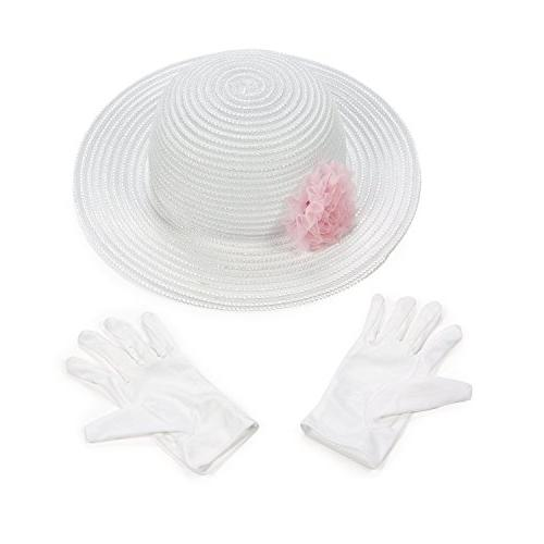 polyester tea party hat gloves