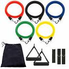 11in1 Resistance Band Set Yoga Pilates Latex Exercise Fitnes