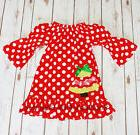 Toddler & Girls Christmas Holiday TREE Red White Boutique Ru