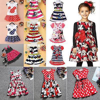 toddler baby girls minnie mouse dress kids