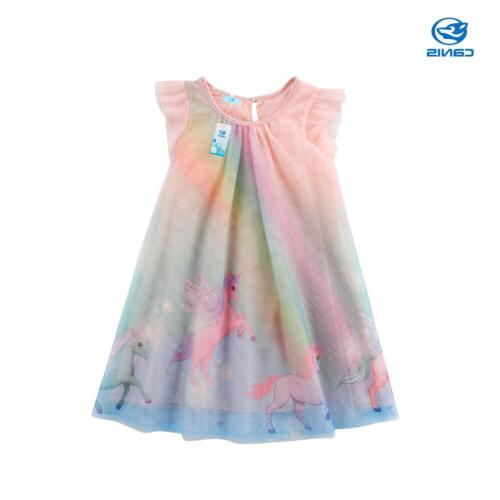 unicorn baby girl dress tulle party bridesmaid