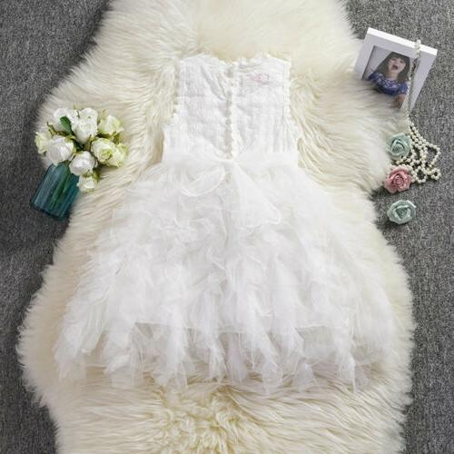 US Fancy Girl Tutu Gown Dress Sundress