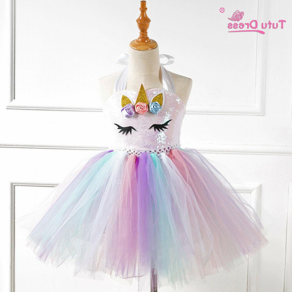 US Stock Flower Unicorn Girls Party ZG9