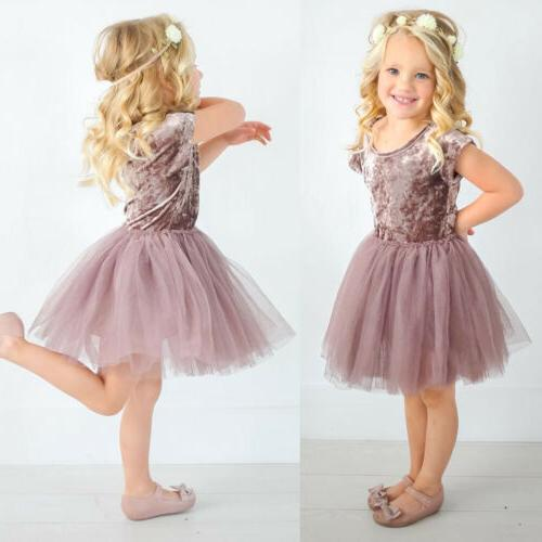 us stock kids baby girls velvet tutu