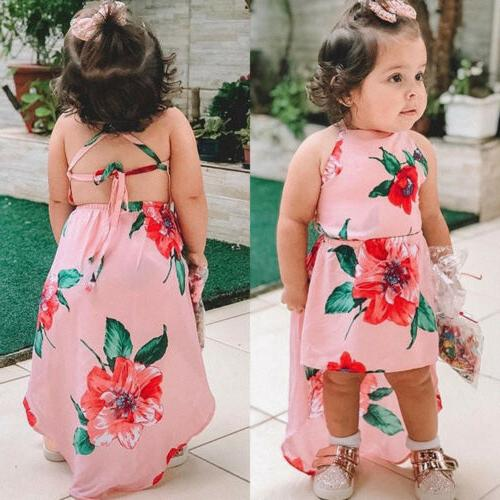 US Summer Baby Sleeveless Flower Backless