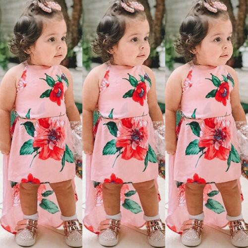 US Summer Baby Girls Sleeveless Flower