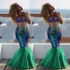 Women Girl Mermaid Halloween Cosplay Costume Fancy Party Dre