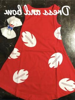 Lilo and Stitch dress and Bow FREE SHIPPING!
