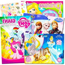 Disney MLP Coloring Book Super Set for Girls -- 4 Giant Colo