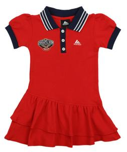 Adidas NBA Girls New Orleans Pelicans Polo Dress, Red