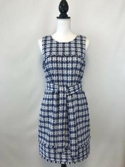 new j crew belted dress tweed size