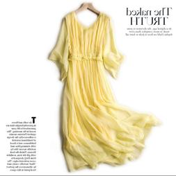 New Silk Dressing Gown Women Natural Silk High Quality Holid