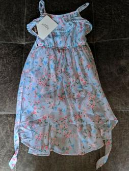 NWT Disney Princess D-signed Blue Floral Dress Girls Size 6,