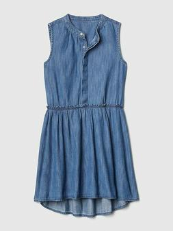 NWT KIDS GAP GIRLS DRESS denim  cinched waist  you pick size