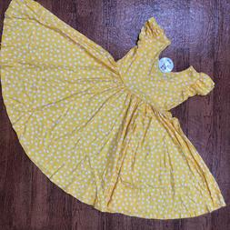 NWT Dot Dot Smile Twirly Summer dress Girls Empire Yellow po