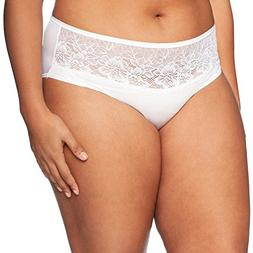 Bali Womens One Smooth U Comfort Indulgence Satin with Lace