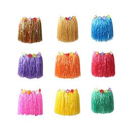 Party Diy Decorations - 40cm 9pcs Plastic Fibers Hawaiian Hu
