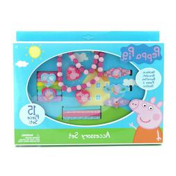 Peppa Pig Necklace Bracelet and Hair Accessory Set 15 Piece