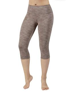 ODODOS Power Flex Yoga Capris Tummy Control Workout Non See-