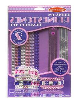 Melissa & Doug Press-On Rhinestones Bracelet-Making Set