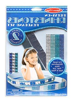 Melissa & Doug Press-On Rhinestones Headband-Making Set