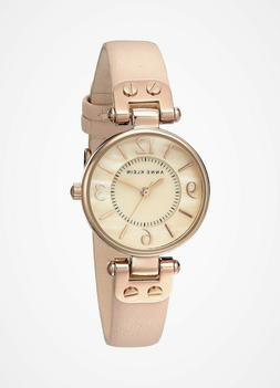 Anne Klein® Rose Goldtone Watch with Blush Pink Strap